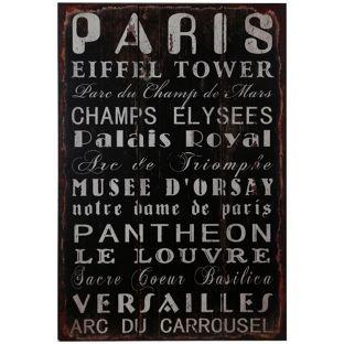 Buy Premier Housewares Paris Wall Plaque at Argos.co.uk, visit Argos.co.uk to…