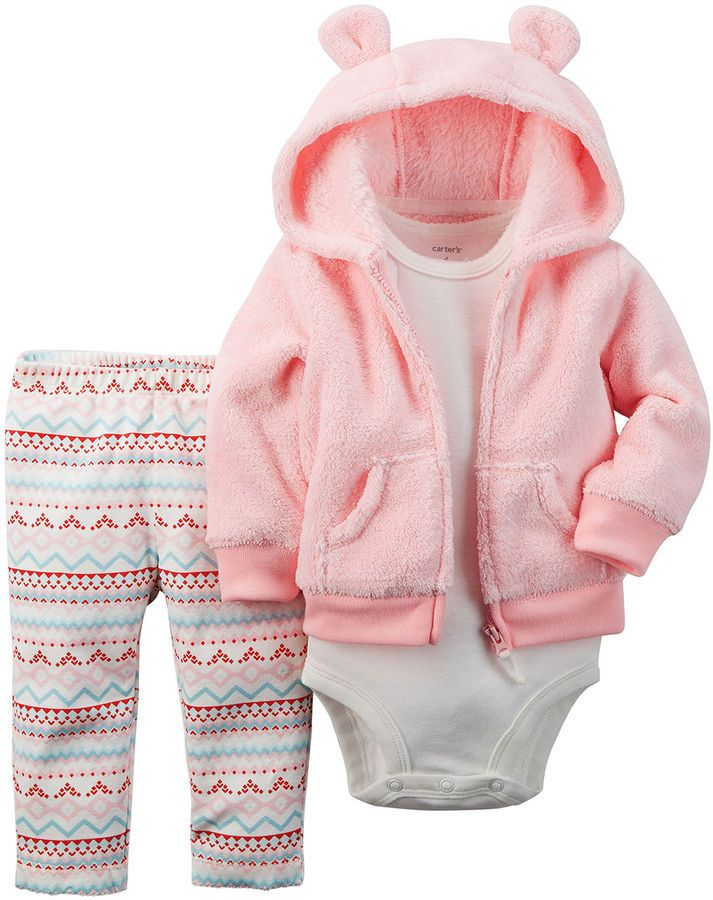 Carter s Hoo Bodysuit and Leggings Baby Girls