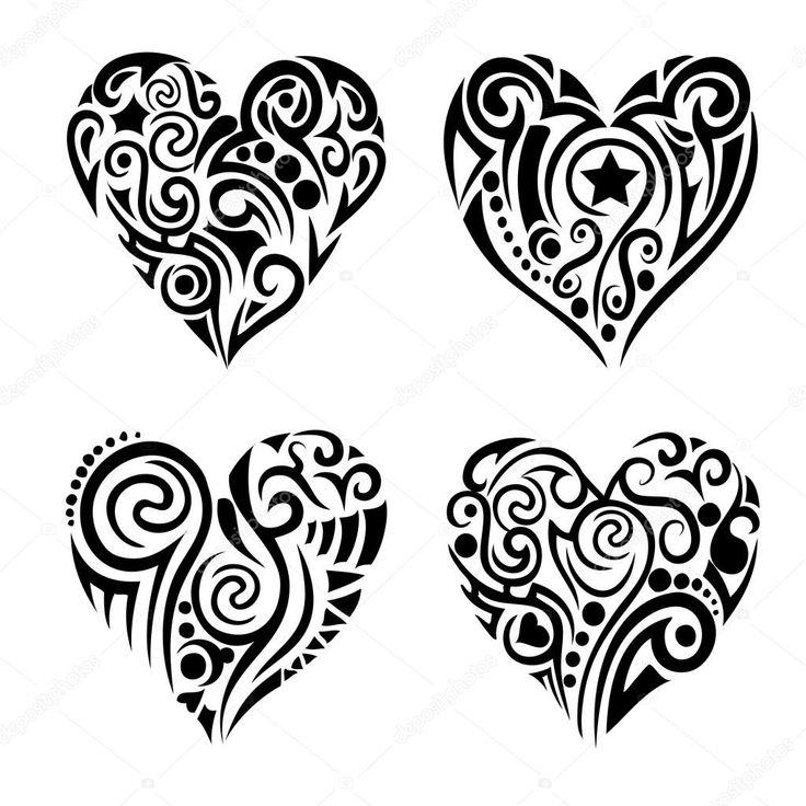 best 25 tribal heart tattoos ideas on pinterest tribal heart heart tattoo designs and small. Black Bedroom Furniture Sets. Home Design Ideas