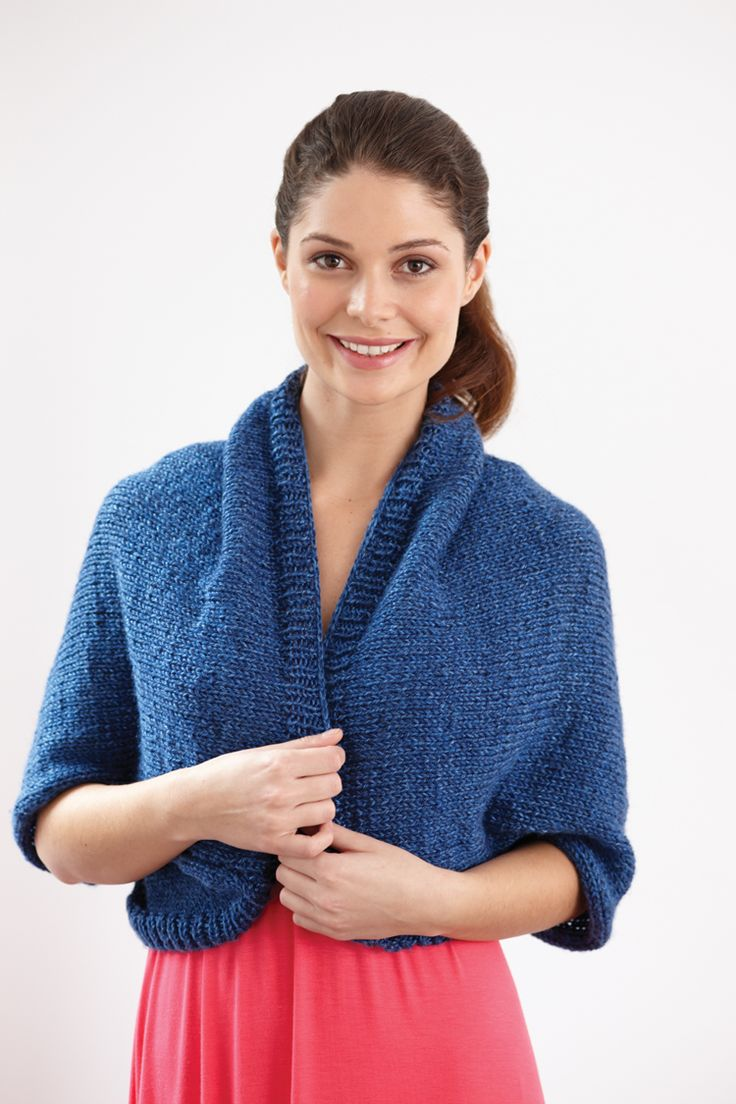 Lion Brand® Heartland Basic Shrug #knit #pattern | Moore ...
