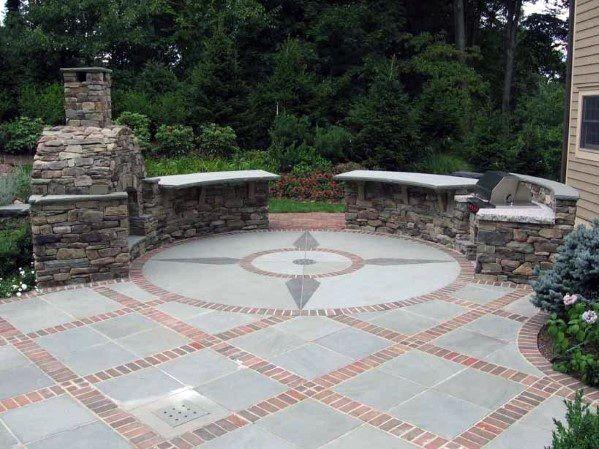 Brick Paver Patio Patios, Brick And Stone Patio Ideas