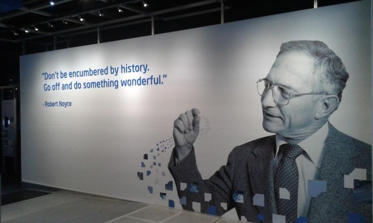 """Don't be encumbered by history. Go off and do something wonderful"" - Robert Νοyce. Photo taken by our startup liateR at Intel museum in SF.   http://www.metavallon.org/metavallonus2014-the-silicon-valley-gateway-to-startup-growth/"