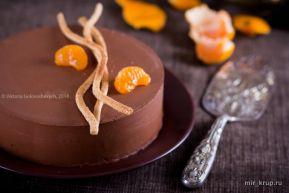Абсолютно шоколадно-мандариновый торт