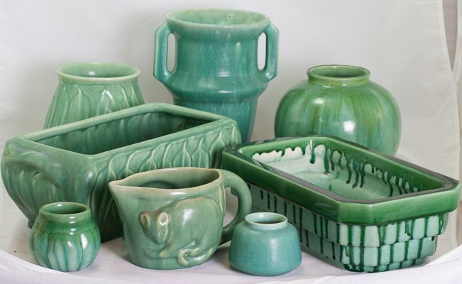 Green Mel-rose by Hoffman Pottery