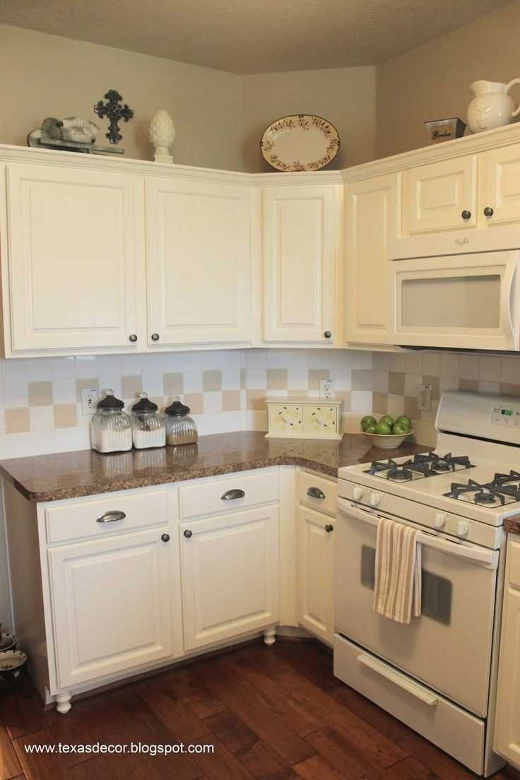77 Cream Colored Kitchen Cabinets With White Appliances
