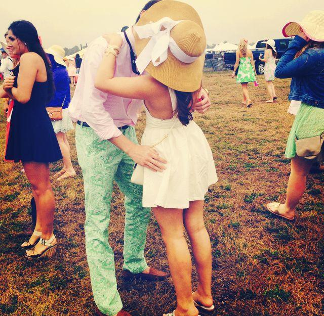 Every Sorority girl needs a Fraternity boy. Pike & Alpha Phi at Carolina Cup 2014. ECU.