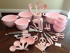 LOT of 39 Pc. KITCHENAID Pink Susan G. Komen Cook for the Cure Mixer & Utensils!
