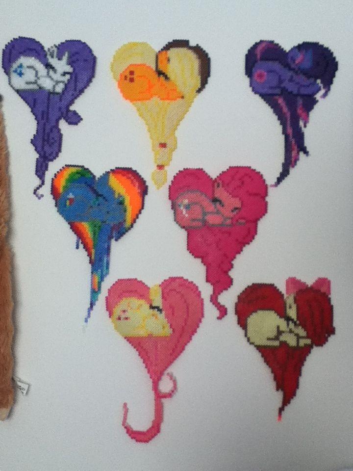 My little pony perler beads by vocaloidlovers1234.deviantart.com on @deviantART