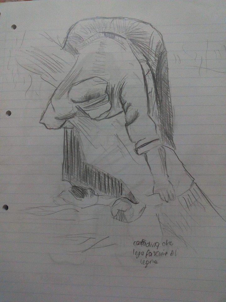 """""""Van Gogh copia dal bozzetto originale"""" Martina Benedusi 1^ anno grafica"""