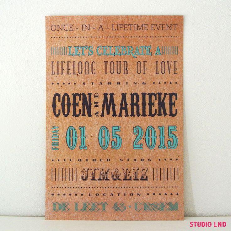 Huwelijkskaart Marieke & Coen