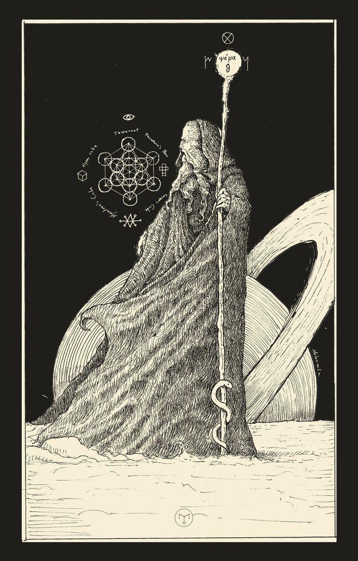 The Hermit ( Tarot Card ) by erikemiranda.deviantart.com on @DeviantArt