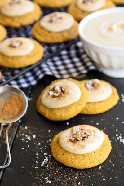 Melt-In-Your-Mouth Pumpkin Cookies - www.afarmgirlsdabbles.com