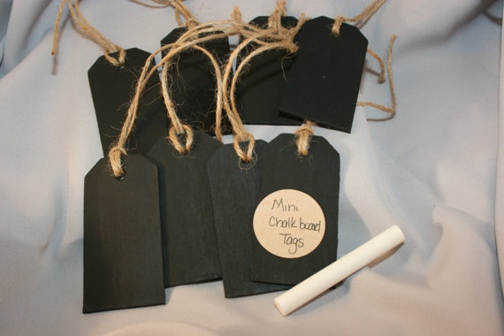 Chalkboard Tags with Jute Twine and Chalk
