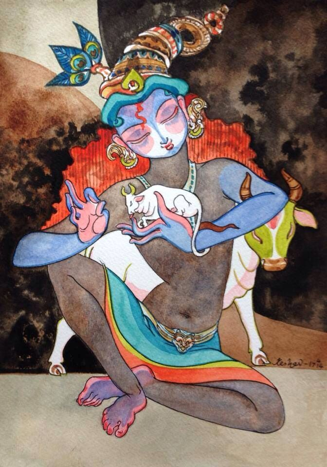pepupstreet.com, #krishna, #god, #India, #contemporaryart, #walldecor, #art, #artwork