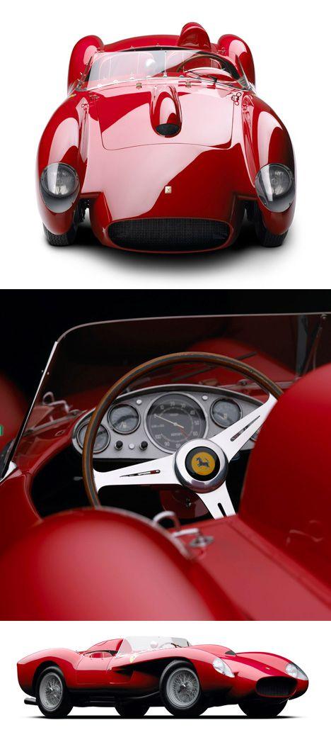 綺麗だな〜〜、こうなると完全なるアートですよね。フェラーリは「車を買う」と思ってはいけない。「アートを所有する」と思わないとダメ! Ferrari 250 Testa Rossa (1958)