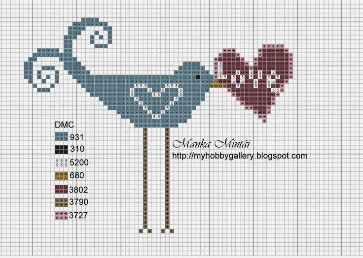Cross Stitch: My Blue Birdies - free charts