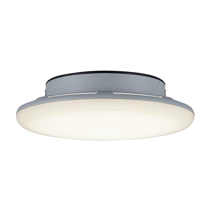 Moderne Runde Deckenleuchte Grau Inkl LED