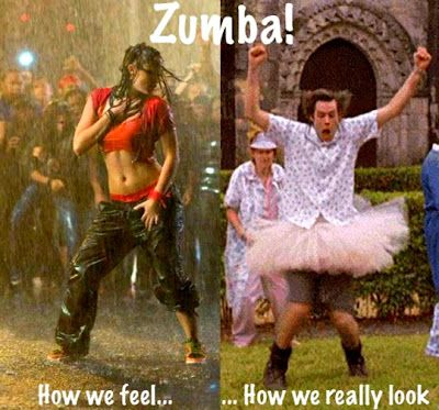 It's funny because there are several people in my zumba class that think they look like the person on the left but they are definitely Jim Carrey up and down!!!