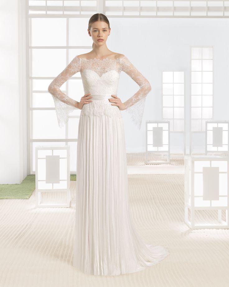 Brautkleid aus Tüll und Spitze. Kollektion 2017 Rosa Clará Soft