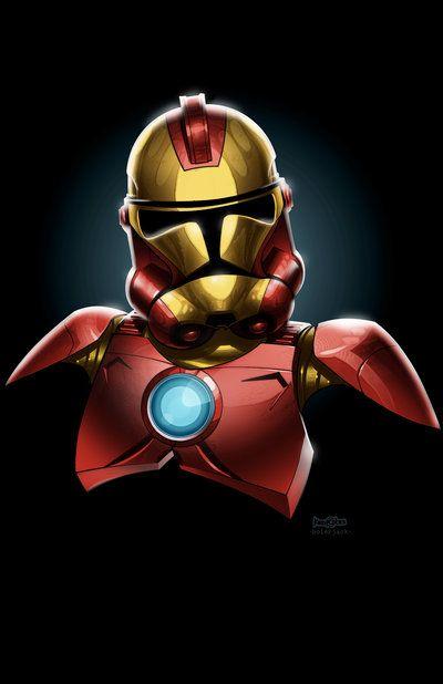 Diggin the series: Geek Art, Troopers Ironman, Storms Troopers, Irons Man, Clone Troopers, Stars War, Ironman Mashup, Super Heroes, Irons Troopers