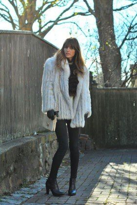 May not work with my shorter fur coat but the shape and color are the same, this one looks like silver fox too Lucky, 31 Perfect December Outfits