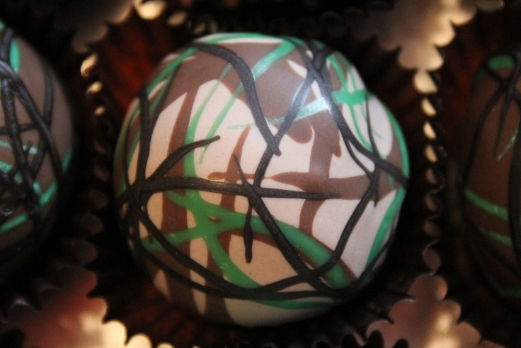 Camo cake ball. Wet on wet technique