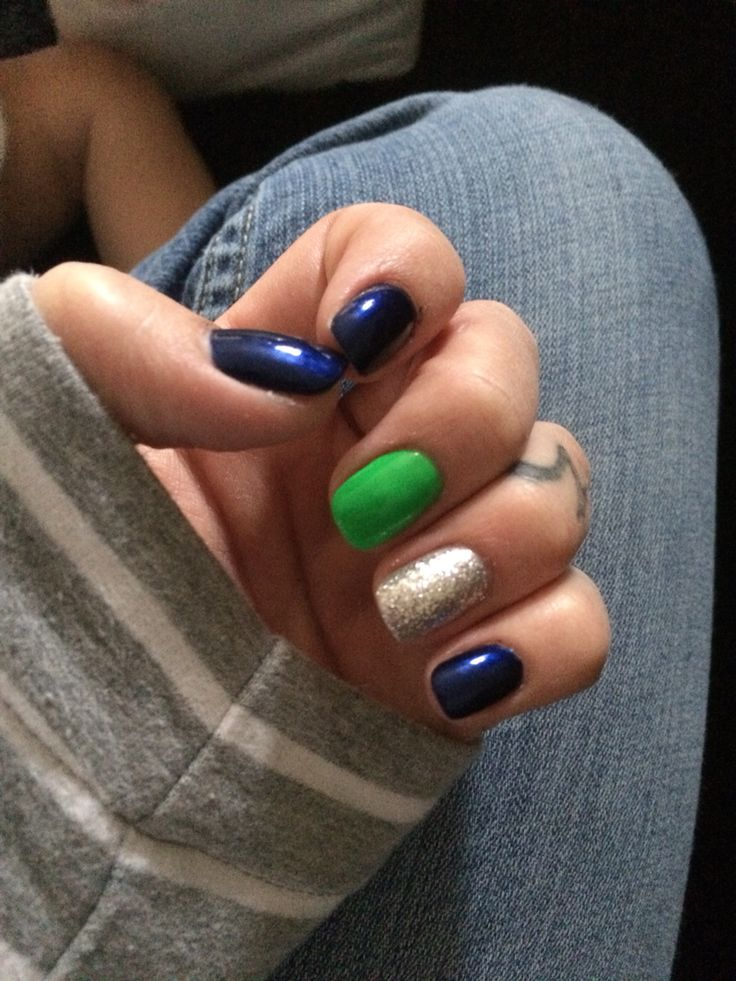 Seahawks Nails. Football. Go Hawks
