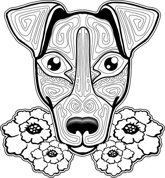 Dog Coloring Page Pages Free