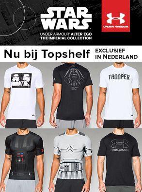 Under Armour heeft een Star Wars lijn exclusief verkrijgbaar bij Topshelf