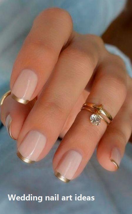 35 idées simples pour la conception des ongles de mariage #nailartideas   – Lovely Wedding Nails