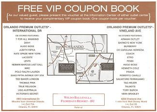 Orlando outlets october discount coupons