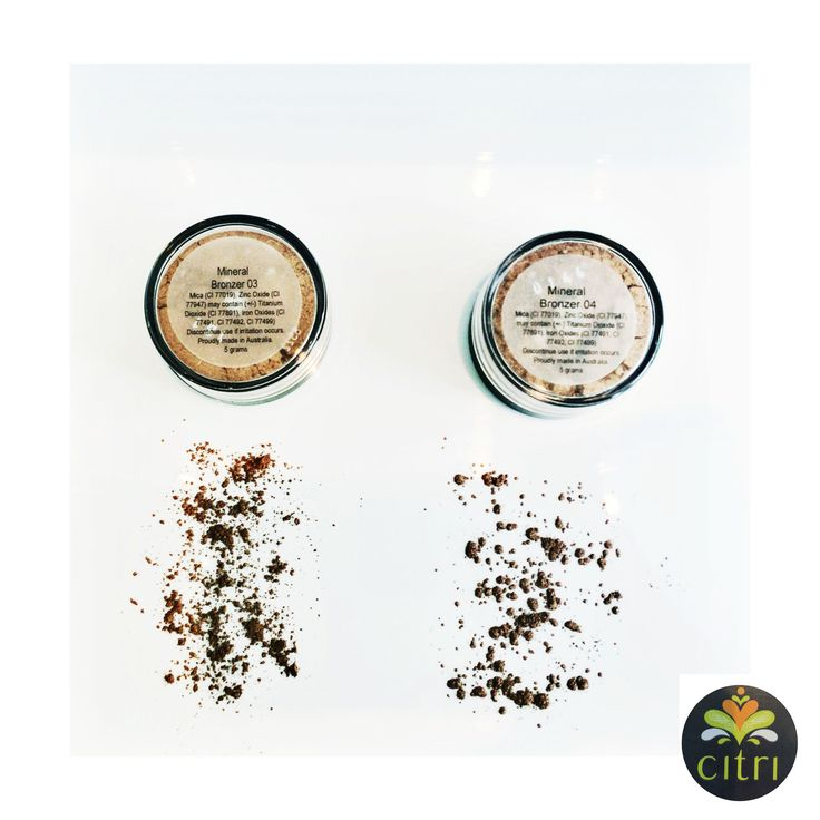 CITRI BRONZERS 2 beautiful, highly pigmented loose powder bronzers, available in a matte or shimmer.