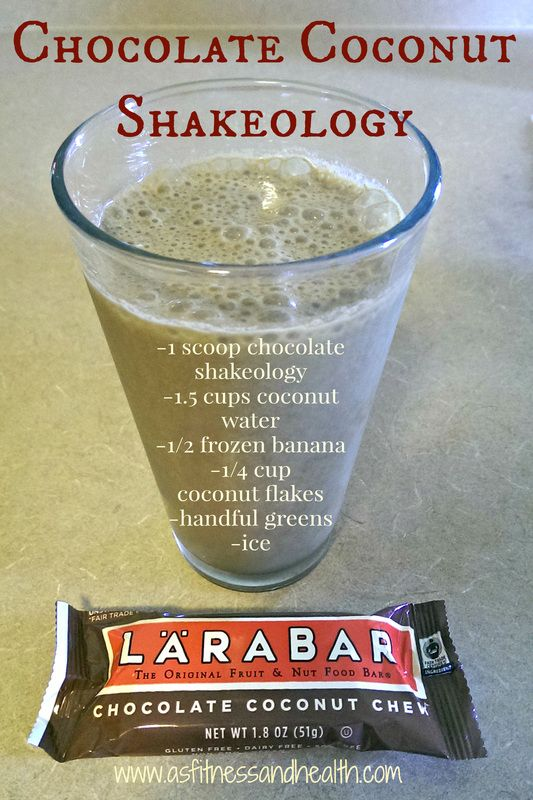 Try this Shakeology recipe spin on one of my favorite Larabar flavors - Chocolate Coconut Shakeology - super refreshing, healthy, kid approved and delicious! http://www.thefitandfreemama.com/recipes.html