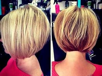 Stacked Bob With Soft Lines