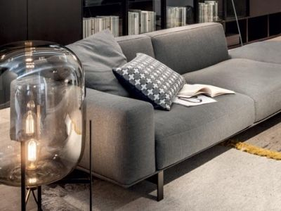 LEMA | The idea of the sofa system Yard, finds its utmost expression in this project by Francesco Rota: upholstered, it combines the modularity of a sofa with that of the retentive systems that are an integral part of Lema's DNA.