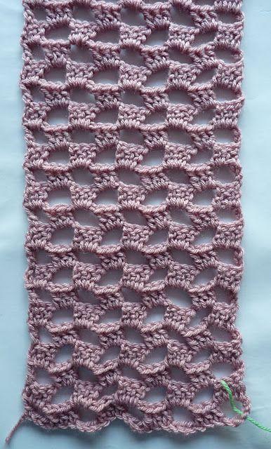 Écharpe au crochet - tutoriel