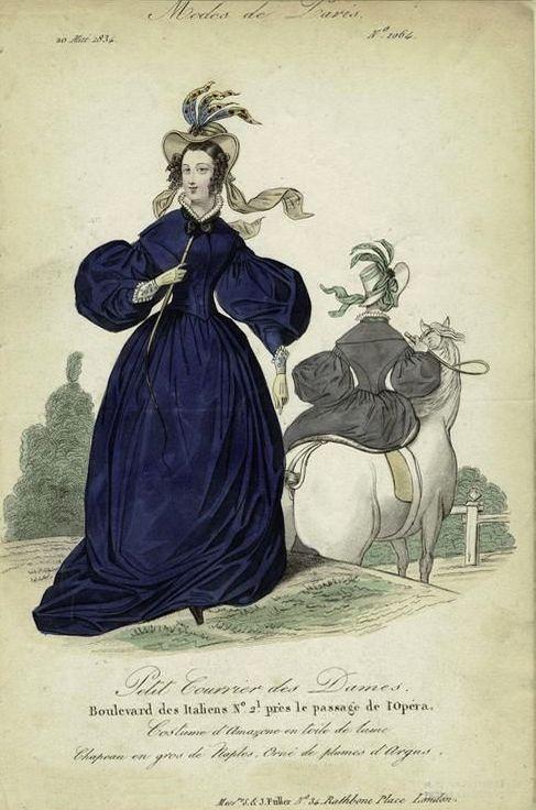 1834 riding habit Modes de Paris