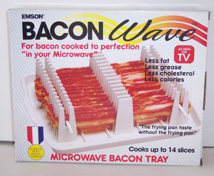Microwave Bacon Tray Emson Bacon Wave 14 Slice Cooker As Seen On TV New NIB