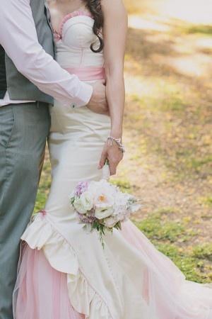 Wedding dress: Rebecca Cobbing - Brisbane High Tea Wedding by Shutter and Lace - via ruffled