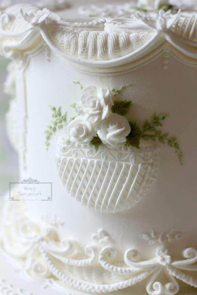 Stringwork cake
