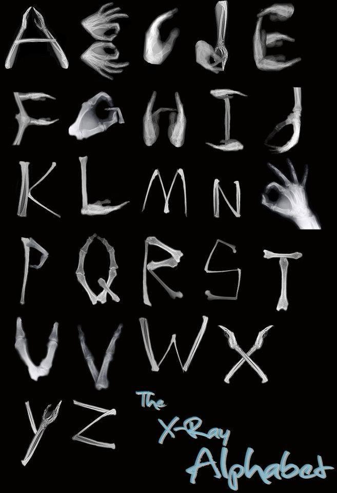 X-ray alphabet