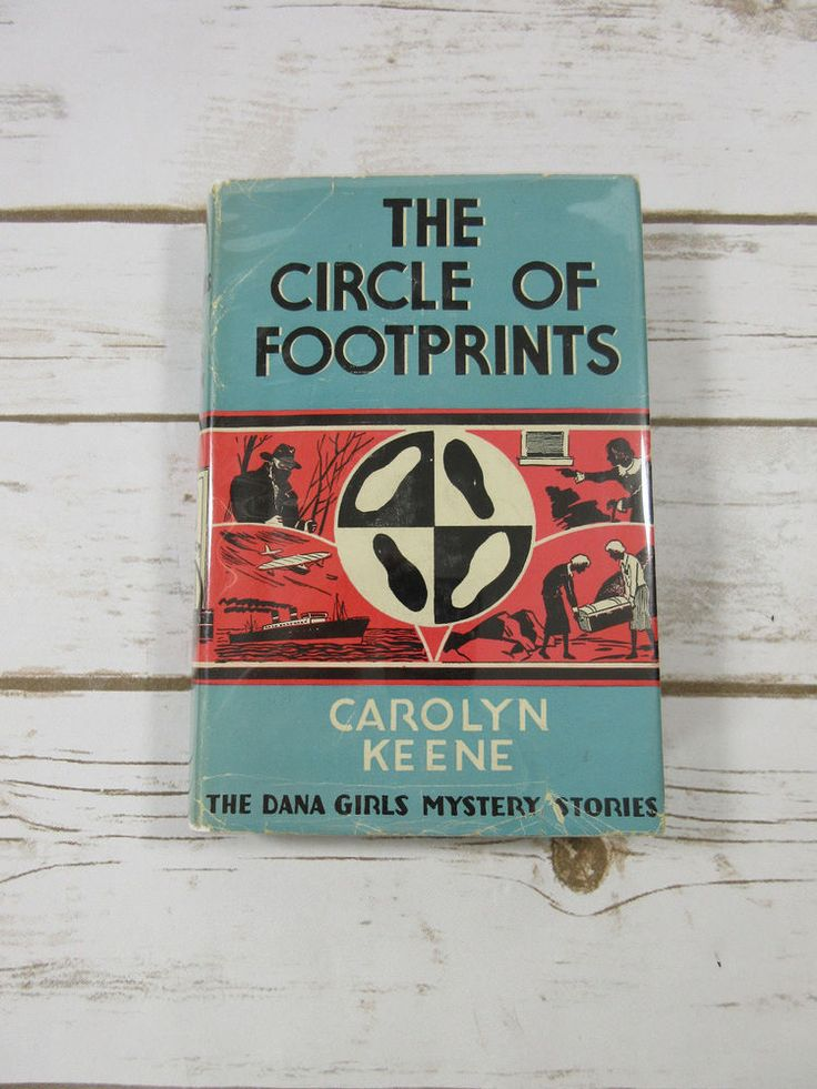 Dana Girls #6 The Circle of Footprints by Carolyn Keene 1944 HC/DJ Wartime Book