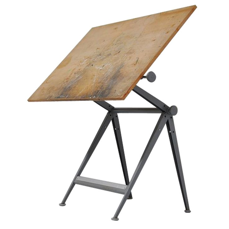 Wim Rietveld Friso Kramer drafting table for the architect    #1stdibs #industrial #architect