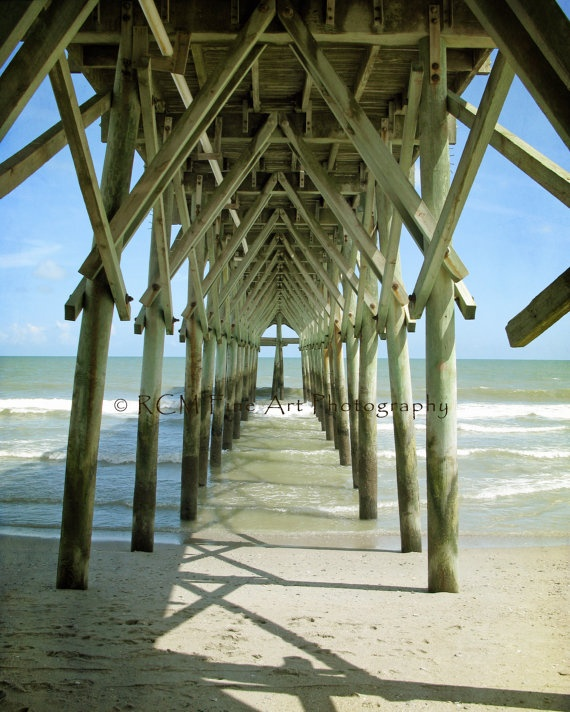 Myrtle beach always makes me nervous to walk under piers for North myrtle beach fishing pier