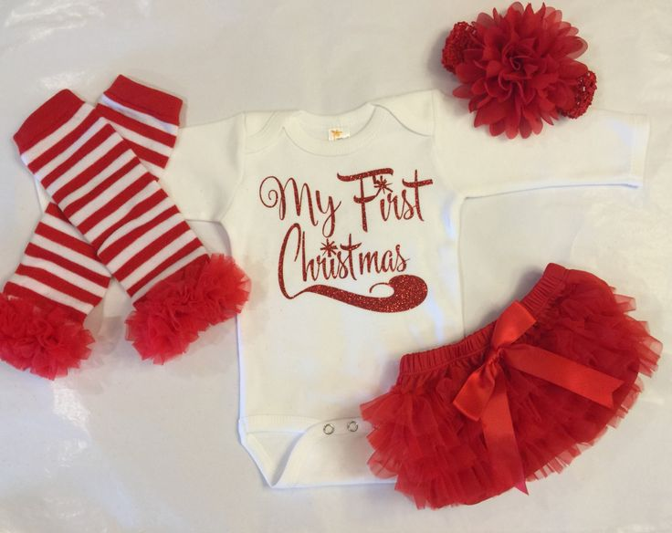 Babies First Christmas, 1st Christmas, Newborn Girls Christmas Outfit, Baby Girl…