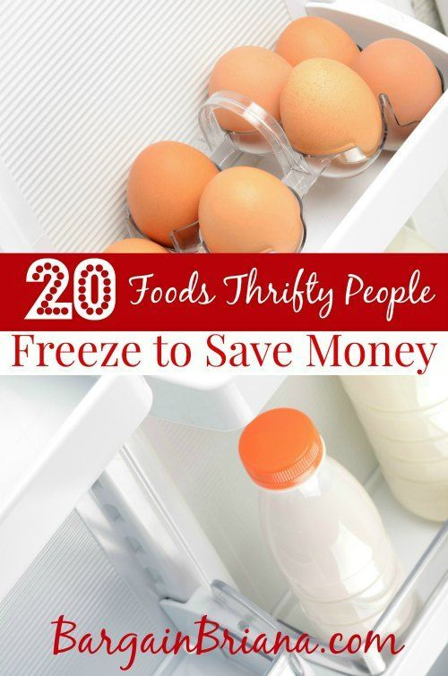 20 Foods Thrifty People Freeze to Save Money save money on food frugal meal ideas, meal planning tips and budget recipes!