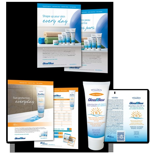 WellSpring Pharmaceutical  Glaxal Base® packaging and print campaign | 3H Communications Inc.