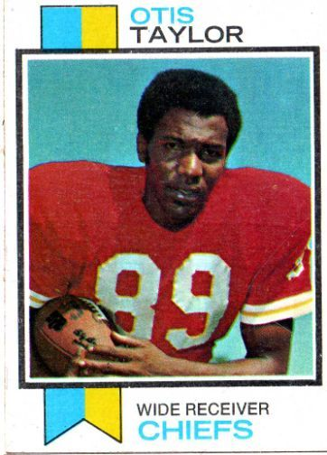 Otis Taylor chiefs football card | KANSAS CITY CHIEFS - Otis Taylor #310 TOPPS 1973 NFL American Football ...