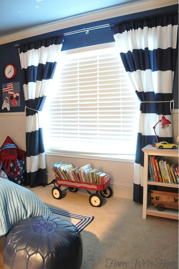 Like The Way The Curtains Frame The Window, Makes A Good Impression For A  Kids
