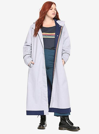 2234344dbb1 Her Universe Doctor Who Thirteenth Doctor Trench Coat Plus SizeHer Universe  Doctor Who Thirteenth Doctor Trench Coat Plus Size